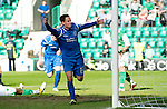 Hibs v St Johnstone.....30.04.11.Kevin Moon celebrates his goal.Picture by Graeme Hart..Copyright Perthshire Picture Agency.Tel: 01738 623350  Mobile: 07990 594431