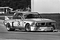 The BMW 3.0 CSL of Sam Posey and Hans Stuck is driven through the Green Park Chicane during the 12 Hours of Sebring IMSA Camel GT race at the Sebring International Raceway near Sebring, Florida, on March 22, 1975. (Photo by Bob Harmeyer)