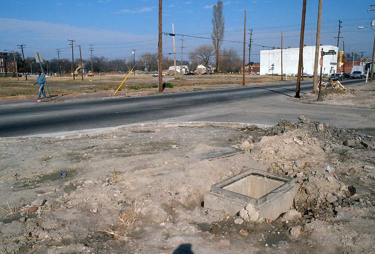 1987 November..Redevelopment.Church Street..STREET IMPROVEMENTS.HENRY STREET & CHURCH STREET...NEG#.NRHA#..