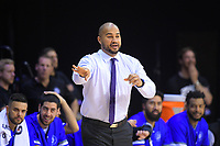 Saints coach Kevin Braswell during the national basketball league match between Wellington Saints and James Blond Super City Rangers at TSB Bank Arena in Wellington, New Zealand on Friday, 5 May 2017. Photo: Dave Lintott / lintottphoto.co.nz