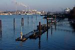 Industrial factories Harburg outside Hamburg, Germany