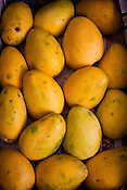 A detail of Safeda variety of mango at the whole sale fruits and vegetable market in Azadpur Mandi in Old Delhi, India. Photo: Sanjit Das/Panos for Time