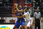 SMU's Shawn Williams (2) is defended by Ole Miss' Steadman Short (15) at the C.M. &quot;Tad&quot; Smith Coliseum in Oxford, Miss. on Tuesday, January 3, 2012. Ole Miss won 50-48.