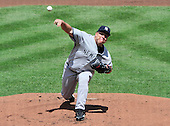 New York Yankees pitcher Bartolo Colon (40) pitches in the first inning against the Baltimore Orioles at Oriole Park at Camden Yards in Baltimore, Maryland in the first game of a doubleheader on Sunday, August 28, 2011.  .Credit: Ron Sachs / CNP.(RESTRICTION: NO New York or New Jersey Newspapers or newspapers within a 75 mile radius of New York City)