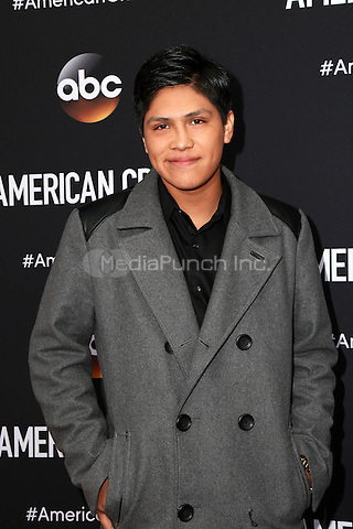LOS ANGELES, CA - FEBRUARY 28: Johnny Ortiz at the American Crime Premiere at the Ace Hotel in Los Angeles, California on February 28, 2015. Credit: David Edwards/DailyCeleb/MediaPunch