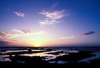 Coastal sunset with tidepools, Kona, Big Island