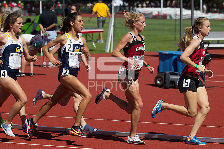 Stanford, CA., April 20, 2013,--Stanford's women's 3,000 race at the 119 Big Meet at Cobb Track and Angell Field at Stanford University.