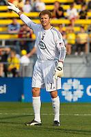 24 OCTOBER 2010:  Columbus Crew goalkeeper William Hesmer (1) during MLS soccer game against the Philadelphia Eagles at Crew Stadium in Columbus, Ohio on August 28, 2010.