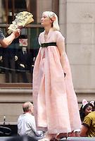 NEW YORK, NY-July 16:  Tida Swinton shooting on location for Netflix & Plan B Enterainment  film Okja in New York. NY July 16, 2016. Credit:RW/MediaPunch