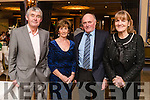 Brendan and Laura O'Regan, (Currovough, Tralee) with John and Eileen Sugrue, (Doon, Tralee), attending the Kerry Supporters Club social on Saturday night last at Ballygarry House Hotel & Spa, Tralee.