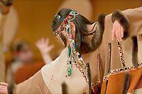 Festival of Native Arts, Aleutian Region School District Unangax Dancers, Native dance and art celebration in Fairbanks, Alaska