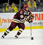 9 January 2009: Boston College forward and Team Captain Brock Bradford, a Senior from Burnaby, BC, in action during the first game of their weekend series against the University of Vermont Catamounts at Gutterson Fieldhouse in Burlington, Vermont. The Catamounts scored with one second remaining in regulation time to earn a 3-3 tie with the visiting Eagles. Mandatory Photo Credit: Ed Wolfstein Photo