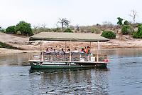 Africa, Botswana, Kasane, Chobe National Park, Chobe Game Lodge, Chobe guides on the Chobe River.