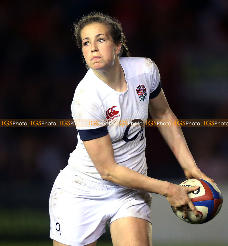 Emily Scarratt of England - England Women vs Wales Women, Six Nations Rugby Union International at The Stoop, Twickenham, London - 07/03/14 - MANDATORY CREDIT: Rob Newell/TGSPHOTO - Self billing applies where appropriate - 0845 094 6026 - contact@tgsphoto.co.uk - NO UNPAID USE