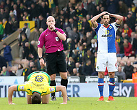 Blackburn Rovers' Jason Lowe looks dejected at the final whistle<br /> <br /> Photographer David Shipman/CameraSport<br /> <br /> The EFL Sky Bet Championship - Norwich City v Blackburn Rovers - Saturday 11th March 2017 - Carrow Road - Norwich<br /> <br /> World Copyright &copy; 2017 CameraSport. All rights reserved. 43 Linden Ave. Countesthorpe. Leicester. England. LE8 5PG - Tel: +44 (0) 116 277 4147 - admin@camerasport.com - www.camerasport.com