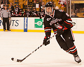 Adam Gaudette (NU - 8) - The Harvard University Crimson defeated the Northeastern University Huskies 4-3 in the opening game of the 2017 Beanpot on Monday, February 6, 2017, at TD Garden in Boston, Massachusetts.