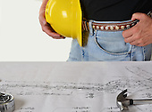 Stock photo of construction plans