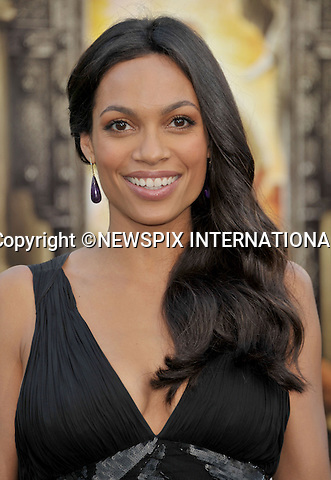 "ROSARIO DAWSON.arrives at the World Premiere of ""Zookeeper"" at the Regency Village Theatre in Westwood, California. WESTWOOD, Los Angeles, California_06/07/2011.Mandatory Photo Credit: ©Crosby/Newspix International. .**ALL FEES PAYABLE TO: ""NEWSPIX INTERNATIONAL""**..PHOTO CREDIT MANDATORY!!: NEWSPIX INTERNATIONAL(Failure to credit will incur a surcharge of 100% of reproduction fees).IMMEDIATE CONFIRMATION OF USAGE REQUIRED:.Newspix International, 31 Chinnery Hill, Bishop's Stortford, ENGLAND CM23 3PS.Tel:+441279 324672  ; Fax: +441279656877.Mobile:  0777568 1153.e-mail: info@newspixinternational.co.uk"