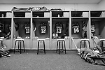 2013 May 27: The jerseys of the Duke Blue Devils lay in wait for the team to arrive before playing the Syracuse Orange.