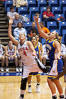 SAN ANTONIO, TX - JANUARY 7, 2006: The McNeese State University Cowgirls vs. The University of Texas at San Antonio Roadrunners Women's Basketball at the UTSA Convocation Center. (Photo by Jeff Huehn)