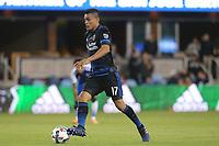 San Jose, CA - Friday April 14, 2017: Darwin Ceren  during a Major League Soccer (MLS) match between the San Jose Earthquakes and FC Dallas at Avaya Stadium.