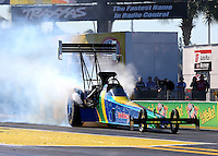 Mar 14, 2014; Gainesville, FL, USA; NHRA top fuel dragster driver Sidnei Frigo during qualifying for the Gatornationals at Gainesville Raceway Mandatory Credit: Mark J. Rebilas-USA TODAY Sports