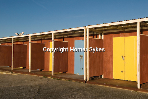 Beach huts at Westgate on Sea Kent Uk