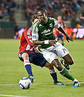 CARSON, CA – June 3, 2011: Portland Timbers midfielder James Marcelin (14) during the match between Chivas USA and Portland Timbers at the Home Depot Center in Carson, California. Final score Chivas USA 1, Portland Timbers 0.