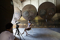 "13th Biennale of Architecture..Arsenale..Chinese Pavillion..Interview with the exhibiting artist Tao Na, ""Palace in the Sky""."