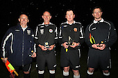 Match officials - Cressing Yardley United vs Frontline Reserves - Braintree & North Essex Sunday League Neil Horrocks Memorial Invitation Plate Final at Halstead Town FC - 14/05/12 - MANDATORY CREDIT: Gavin Ellis/TGSPHOTO - Self billing applies where appropriate - 0845 094 6026 - contact@tgsphoto.co.uk - NO UNPAID USE.
