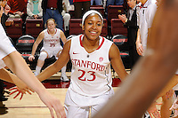 STANFORD, CA - DECEMBER 17, 2011: Stanford Cardinal women's basketball takes on the Princeton Tigers at Maples Pavilion on the Stanford University campus in Stanford, California.  Stanford topped Princeton, 85-66.