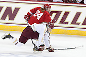 Hayleigh Cudmore (Cornell - 24), Taylor Wasylk (BC - 9) - The Boston College Eagles defeated the visiting Cornell University Big Red 4-3 (OT) on Sunday, January 11, 2012, at Kelley Rink in Conte Forum in Chestnut Hill, Massachusetts.