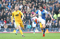 Preston North End's Aidan McGeady and Blackburn Rovers' Jason Lowe<br /> <br /> Photographer Rachel Holborn/CameraSport<br /> <br /> The EFL Sky Bet Championship - Blackburn Rovers v Preston North End - Saturday 18th March 2017 - Ewood Park - Blackburn<br /> <br /> World Copyright &copy; 2017 CameraSport. All rights reserved. 43 Linden Ave. Countesthorpe. Leicester. England. LE8 5PG - Tel: +44 (0) 116 277 4147 - admin@camerasport.com - www.camerasport.com