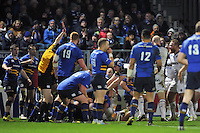 Leroy Houston of Bath Rugby scores a try in the second half. European Rugby Champions Cup match, between Leinster Rugby and Bath Rugby on January 16, 2016 at the RDS Arena in Dublin, Republic of Ireland. Photo by: Patrick Khachfe / Onside Images