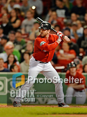8 June 2012: Boston Red Sox infielder Nick Punto pinch hits against the Washington Nationals at Fenway Park in Boston, MA. The Nationals defeated the Red Sox 7-4 in the opening game of their 3-game series. Mandatory Credit: Ed Wolfstein Photo