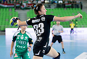 Katarina Krpez of Krim during handball match between RK Krim Mercator and Gyori Audi ETO KC (HUN) in 3rd Round of Group B of EHF Women's Champions League 2012/13 on October 28, 2012 in Arena Stozice, Ljubljana, Slovenia. (Photo By Vid Ponikvar / Sportida)