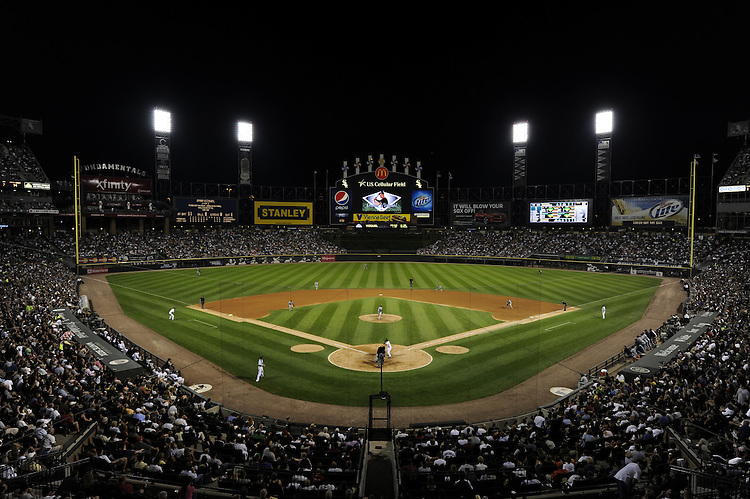CHICAGO - JULY 26:  A general view of U.S. Cellular Field as 38,815 fans watch the game between the Chicago White Sox and Seattle Mariners on July 26, 2010 at U.S. Cellular Field in Chicago, Illinois.  The White Sox defeated the Mariners 6-1.  (Photo by Ron Vesely)