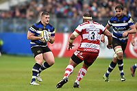 Shaun Knight of Bath Rugby in possession. Aviva Premiership match, between Bath Rugby and Gloucester Rugby on April 30, 2017 at the Recreation Ground in Bath, England. Photo by: Patrick Khachfe / Onside Images
