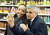 Sadiq Khan <br /> Labour mayor of London candidate and Chuka  Umunna MP for Brixton &amp; Streatham walk around Brixton canvassing locals to support Labour in the forthcoming 5th May election.<br /> <br /> Sadiq Khan <br /> visits a local beauty shop <br /> <br /> Photograph by Elliott Franks <br /> Image licensed to Elliott Franks Photography Services