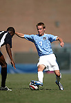 11 September 2005: Scott Campbell (7) takes on Makan Hislop (l). The University of North Carolina Tarheels defeated the University of South Carolina Gamecocks 2-0 in an NCAA Divison I men's soccer game at Fetzer Field in Chapel Hill, NC.