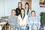 Mother tobe of Twins, Sarah O'Sullivan, Mitchel's Avenue Tralee celebrates with a baby shower with family at La Scala's on Saturday. Picture front l-r  Danielle O Sullivan, Sarah O'Sullivan, Sharon O'Shea, Back l-r  Nicole O Sullivan and Sophie O'Sullivan