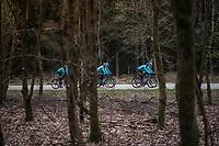 Team Astana during their Liège-Bastogne-Liège 2017 recon