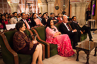 Princess Diya Kumari of the Jaipur Royal Family (center) sits with Dr Lachlan Strahan, Australia's High Commissioner to India, on her left at the violin recital by Australian violinist Niki Vasilakis at the OzFest Gala Dinner in the Jaipur City Palace, in Rajasthan, India on 10 January 2013. Photo by Suzanne Lee