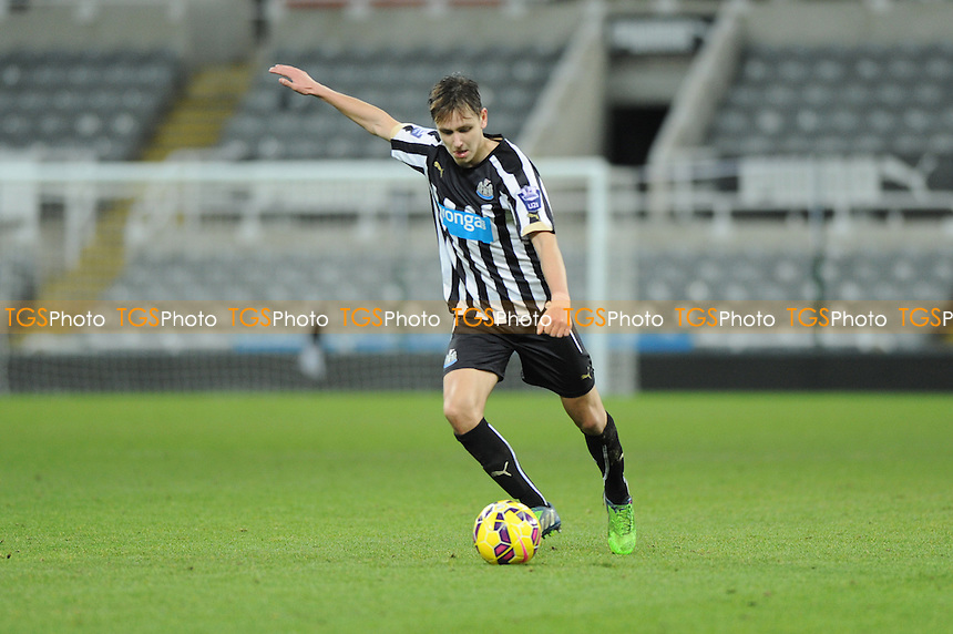 Liam Smith of Newcastle United - Newcastle United Under-21 vs Arsenal Under-21 - Barclays Under-21 Premier League Football at St James Park, Newcastle United FC - 09/02/15 - MANDATORY CREDIT: Steven White/TGSPHOTO - Self billing applies where appropriate - contact@tgsphoto.co.uk - NO UNPAID USE
