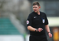 Referee Brett Huxtable<br /> <br /> Photographer Kevin Barnes/CameraSport<br /> <br /> The EFL Sky Bet League Two - Saturday 18th March 2017 - Newport County v Blackpool - Rodney Parade - Newport<br /> <br /> World Copyright &copy; 2017 CameraSport. All rights reserved. 43 Linden Ave. Countesthorpe. Leicester. England. LE8 5PG - Tel: +44 (0) 116 277 4147 - admin@camerasport.com - www.camerasport.com