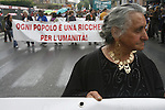 Demonstration by Roma Gypsies in Rome Italy against ID cards and general racist discrimination against Roma Gypsies. The demonstraton was initiated by Santino Spinelli, Roma diplomat