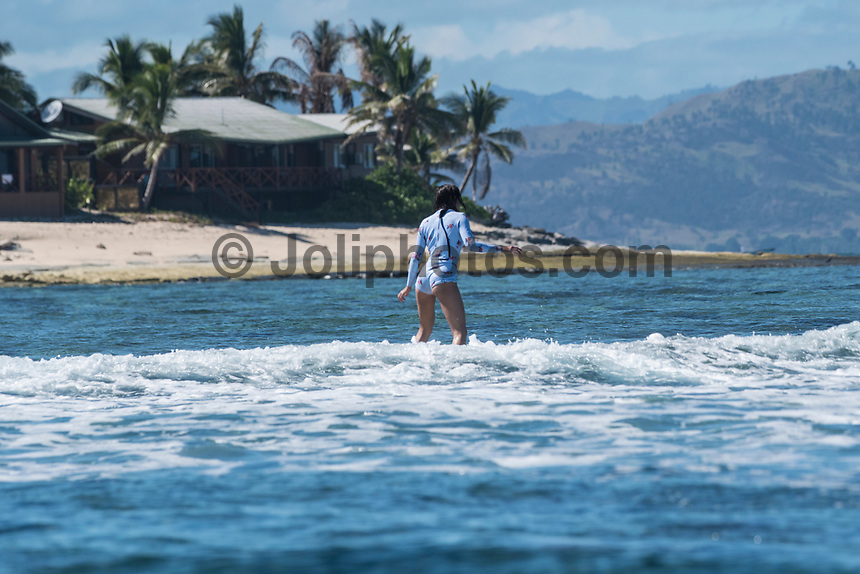 Namotu Island Resort, Nadi, Fiji (Thursday, May 11 2017): The wind was  virtually no this morning and the sky was cloud free. High tide was right around 6 am. An early morning crew hit Desperations before the idea dropped too low.  The swell  was still in the 2' range  and other guests surfed Namotu Lefts until it got too.  Photo: joliphotos.com