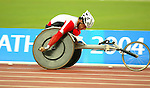 Michel Filteau competing in the 10000m. he finished last.<br /> (Benoit Pelosse photographe)