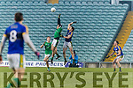 Tadhg Morley Kerry in action against Cian Sheehan Limerick in the Final of the McGrath Cup at the Gaelic Grounds on Sunday.