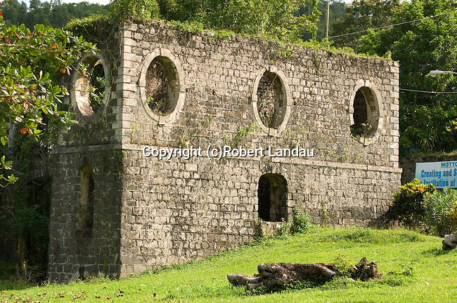 Abandoned ruins of old factory in Jamaica